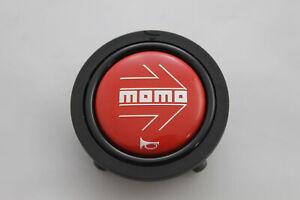 Momo-Hupenknopf-fuer-Sportlenkrad-Rot-52mm-2polig-horn-button-Deckel