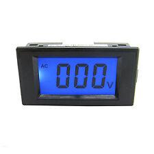 Us Stock Blue Lcd Digital Volt Panel Meter Voltmeter Ac 0200v 4 Wire
