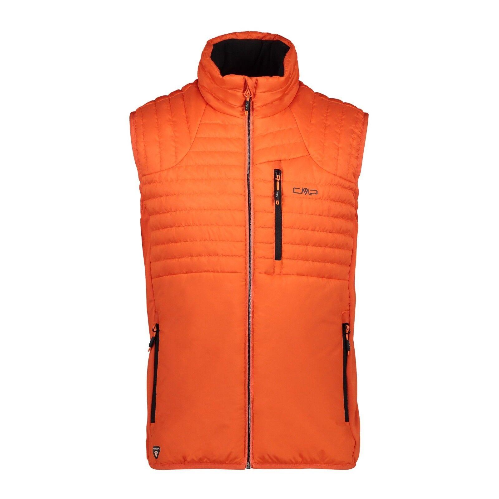 CMP Herren Weste 38Z0947 Man Vest Steppweste Primaloft Orange 48-56 Midlayer