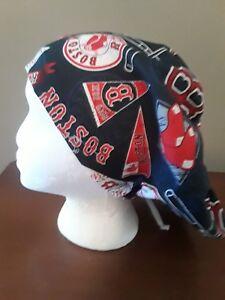 Boston Red Sox Women s Euro Chef Surgical Scrub Hat Cap Handmade  31e074f492