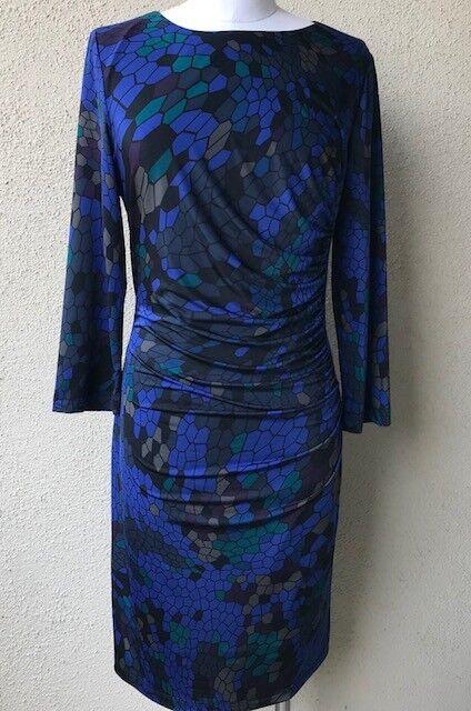 Rolando By Rolando Santana Geo Print Jersey Dress Größe LARGE