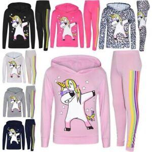 Girls Unicorns Made of Stars Hoody Top /& Shimmer Leggings Set 4 to 13 Years
