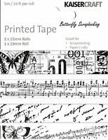 Printed Tape Pack Scrapbooking Paper Crafting Embellishment By Kaisercraft