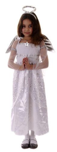 Costume RAGAZZE ANGEL Natività Natale chrsitmas GABRIEL accoppiamenti età 4-12