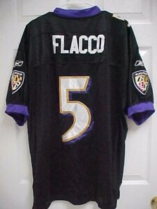 wholesale dealer d3dce 08d55 JOE FLACCO 5 Baltimore Ravens Men Authentic Sewn Black ...