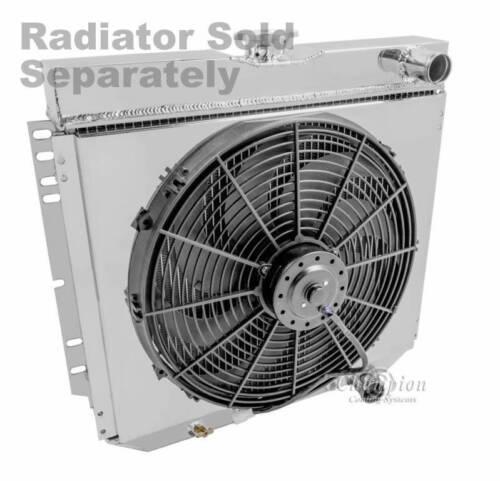 "Ford Torino Custom Aluminum Radiator Fan Shroud /& 16/"" Fan-16 3//8/""H x 20 1//4/""W"