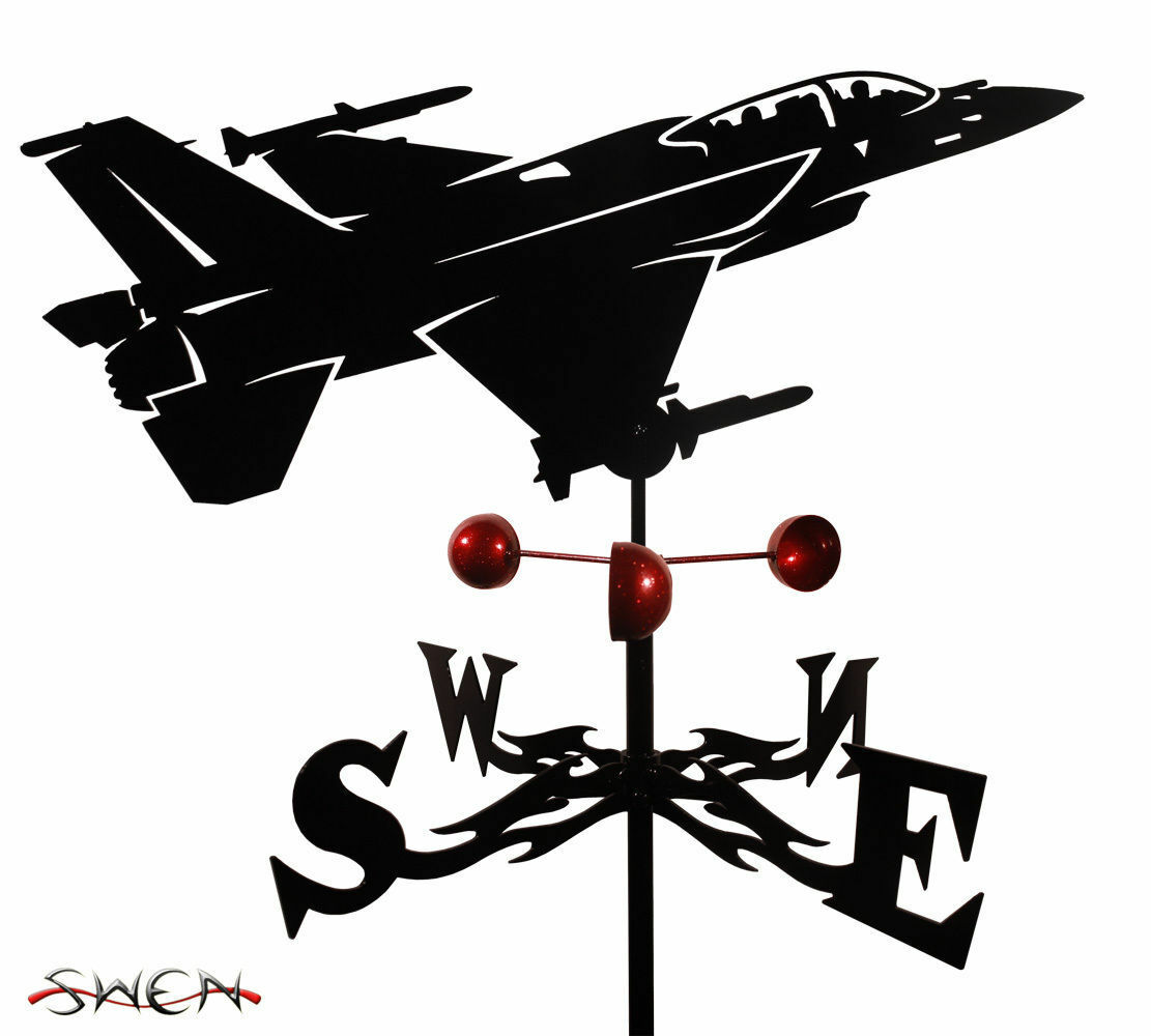 SWEN Products Hand Made F-16 FIGHTING FALCON Steel Weathervane
