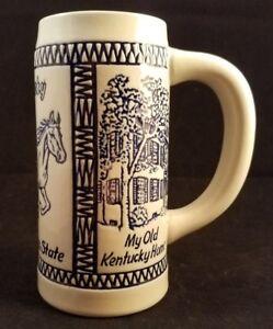 Collectible-Decorative-Kentucky-Blue-Grass-6-5-034-Tall-Stein-Ceramarte-Brazil