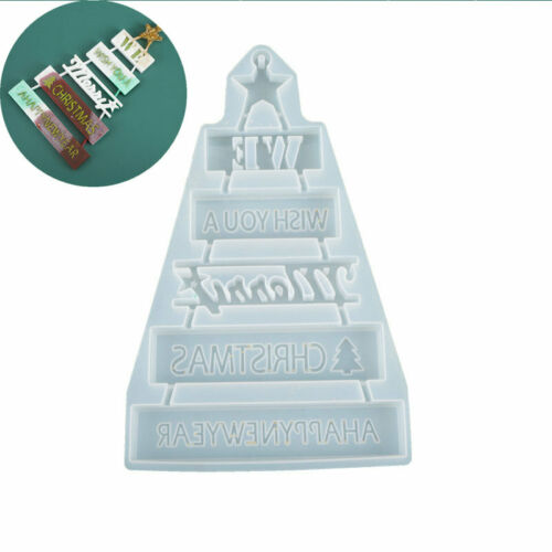 Mould Resin Epoxy Silicone Christmas Craft Decor Tool Jewelry Casting Mold Wish