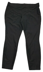 LISA-RINNA-size-XL-black-stretch-twill-knit-leggings-w-seaming-detail