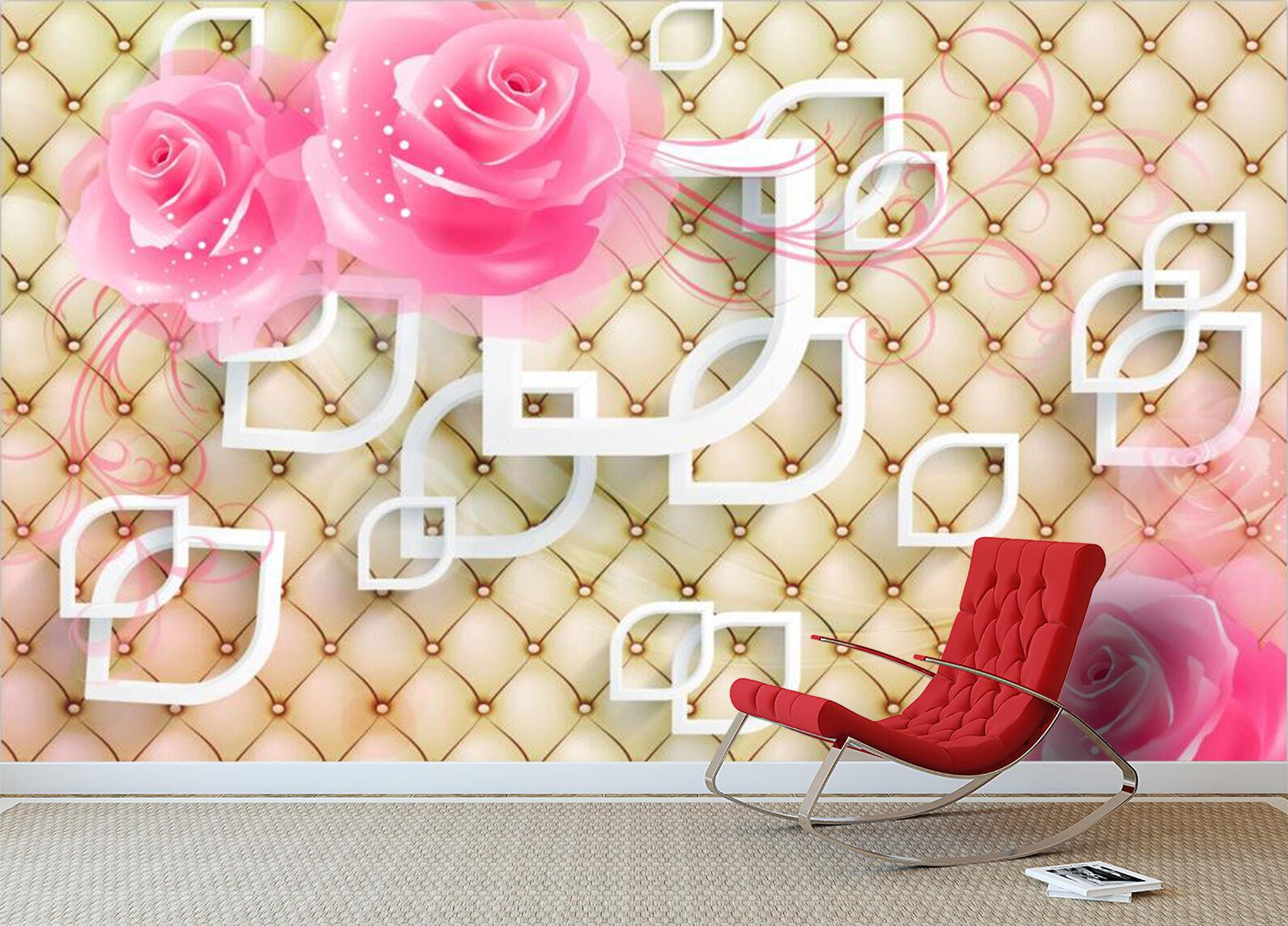 3D Fiori forma 3 Parete Murale Foto Carta da parati immagine sfondo muro stampa