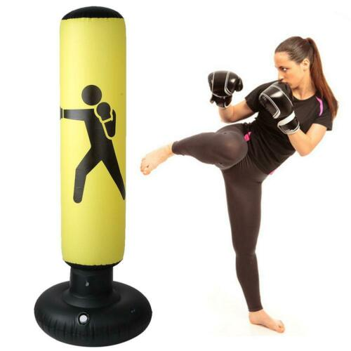 160cm Inflatable Boxing Punching Bag Kick Training Tumbler Sandbags Kids Adult