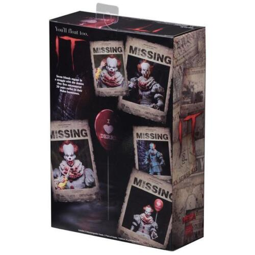 """IT Pennywise 2017 """"I Heart Derry"""" Ultimate 7/"""" Action Figure NECA IN STOCK!"""
