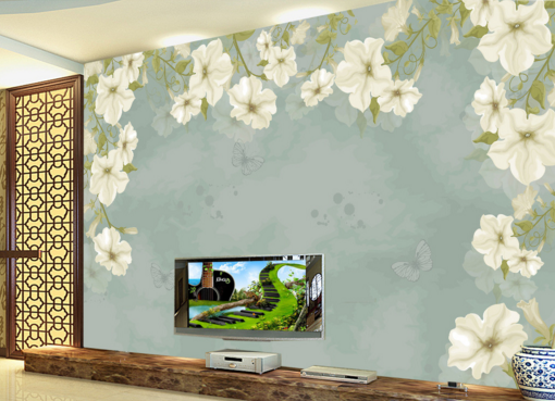 3D Light Blau Laces 74 Wall Paper Murals Wall Print Wall Wallpaper Mural AU Kyra