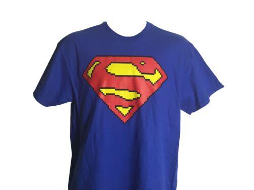 Superman 8 Bit Logo DC Comics Justice League Superhero T Shirt