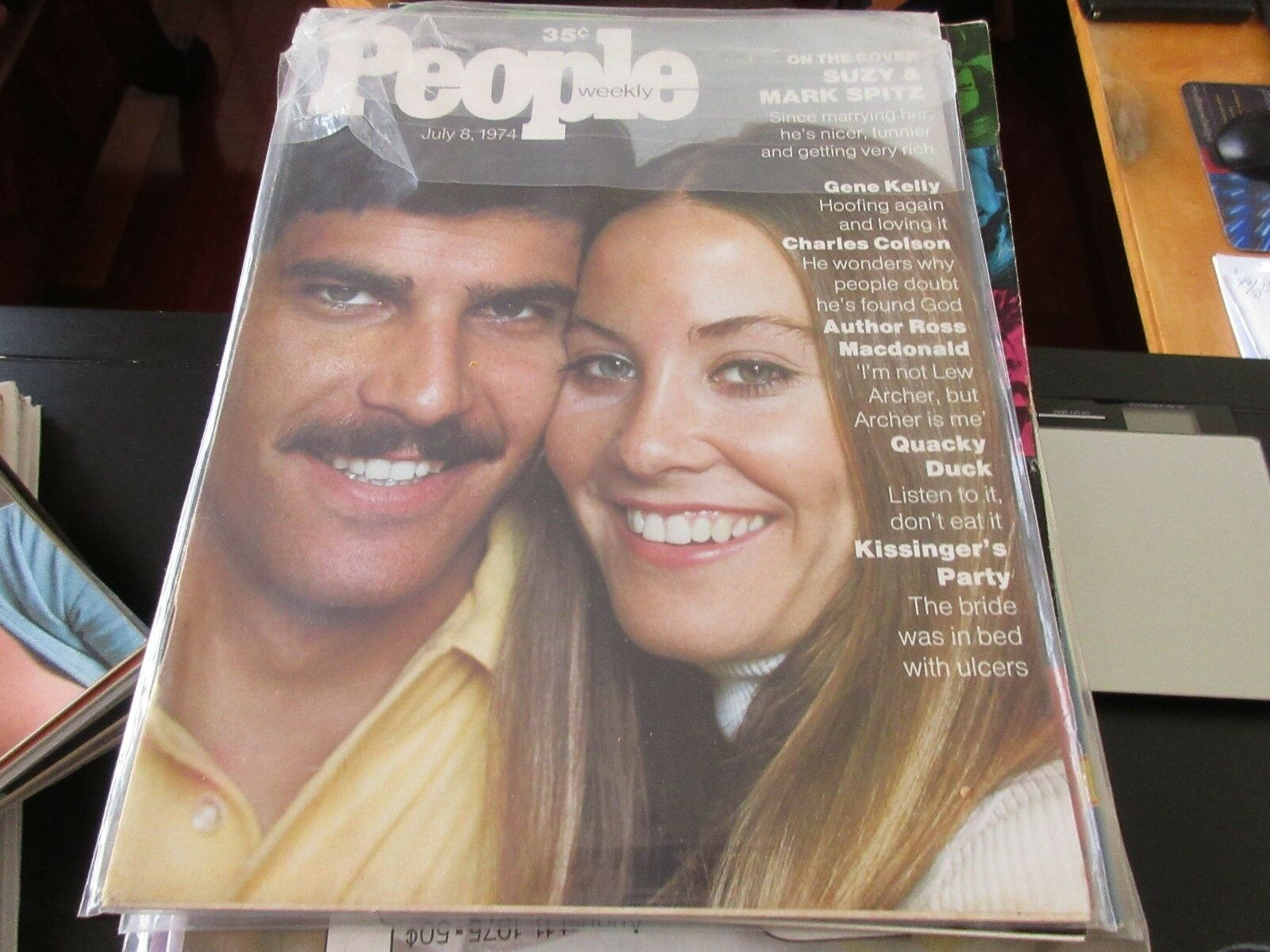 People Magazine , Suzy & Mark Spitz , 7/8/74 , Charles