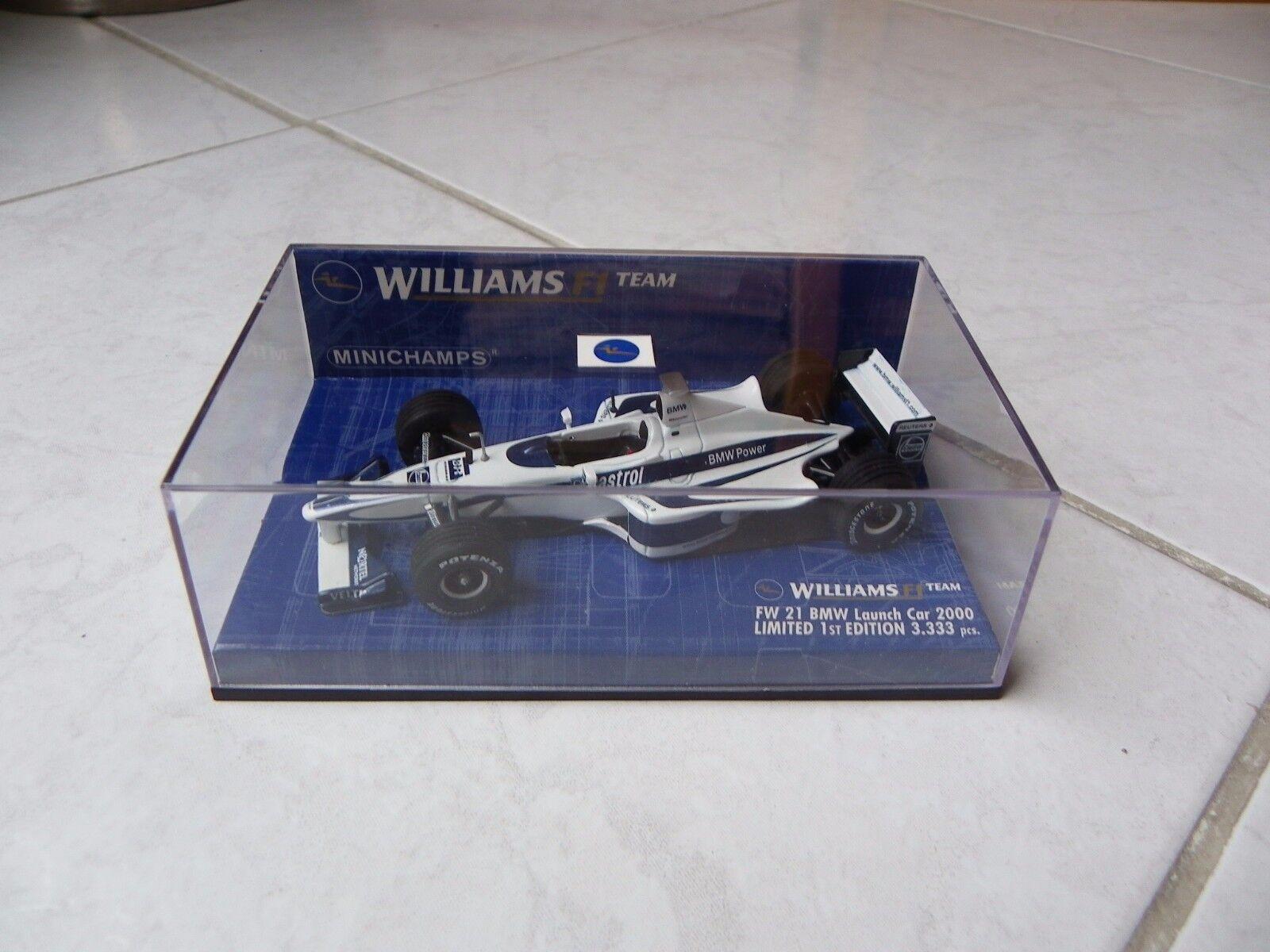 Williams Bmw FW21 Launch Car 2000 Ralf Schumacher no.9 Minichamps 1 43 2000 F1