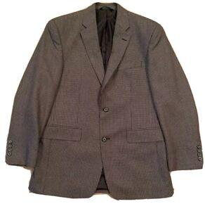 Men's Pronto Uomo Gray and Black Blazer Sports Coat Size 38R NWOT