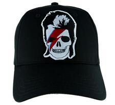 David Bowie Skull Lightning Bolt Hat Baseball Cap Gothic Punk Ziggy Stardust Emo