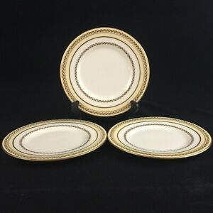 "Set of 3 VTG Bread Plates 6"" by Royal Doulton The Repton V1705 Laurel England"