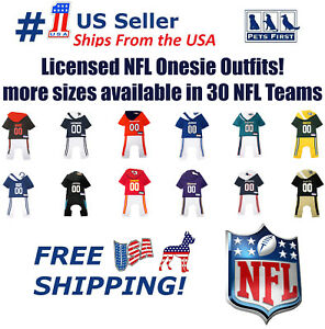 NFL-Pajama-Outfit-for-DOGS-amp-CATS-Licensed-breathable-Dog-Football-Bodysuit