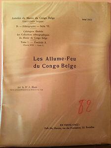Annales du Musée du Congo Belge - Les Allume-Feu du Congo Belge
