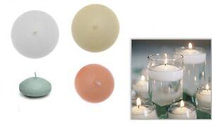 Pz candele galleggianti maxi flott avorio bianca tonde candela