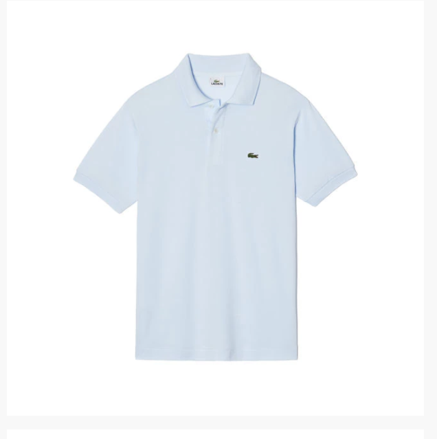 c4be08be9 NWT LACOSTE L1212 Men Short Sleeve ORIGINAL Fit Pique POLO Shirt Light Blue  XS 2