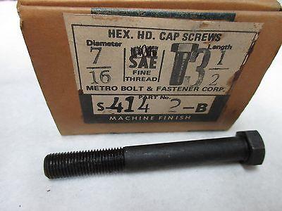 LL1978 7//16-20 X 4 HEX HEAD CAP SCREWS 23 PCS METRO BOLT /& FASTENER 416
