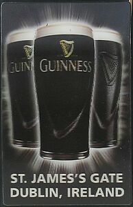 Guinness-3D-fridge-magnet-Three-Pint-Glasses-sg-MULTI-BUY-GIFT-OFFER
