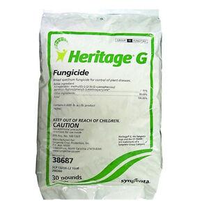 Syngenta Heritage G Granular Fungicide Azoxystrobin 30 Lbs Free Ship Ebay