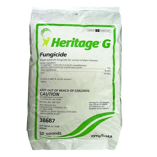 HERITAGE G Granular Syngenta Fungicide (Azoxystrobin) - 30 Lbs