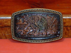 Pre-Owned-Alumaline-Vintage-Bass-Fishing-Belt-Buckle