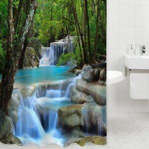 Textil-Duschvorhang-Badewannenvorhang-Badevorhang-3D-Kaskade-180x180cm