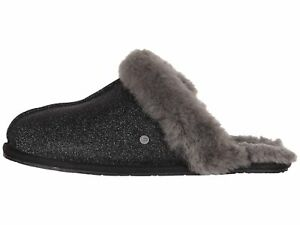 57063d81605 Details about UGG SCUFFETTE II SPARKLE Black Women's Slippers 1100177