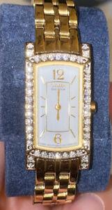 I cittadini PALIDORO ECODRIVE Swarovski Crystal e Oro Placcato Argento Sterling Orologio
