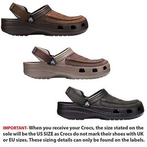 e147467b1 Crocs Yukon Vista Roomy Fit Clog Shoes Sandals in Espresso Khaki ...