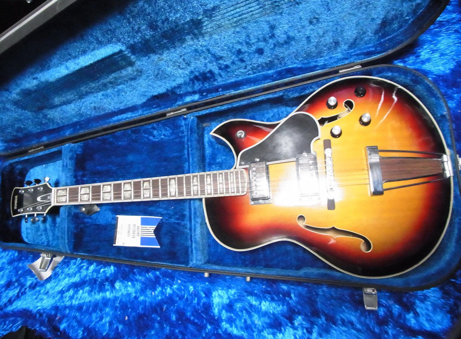 Vintage Yamaha AE-11 ae11 guitarra guitarra guitarra eléctrica de cuerpo hueco con Estuche Japón 11-6  100% precio garantizado