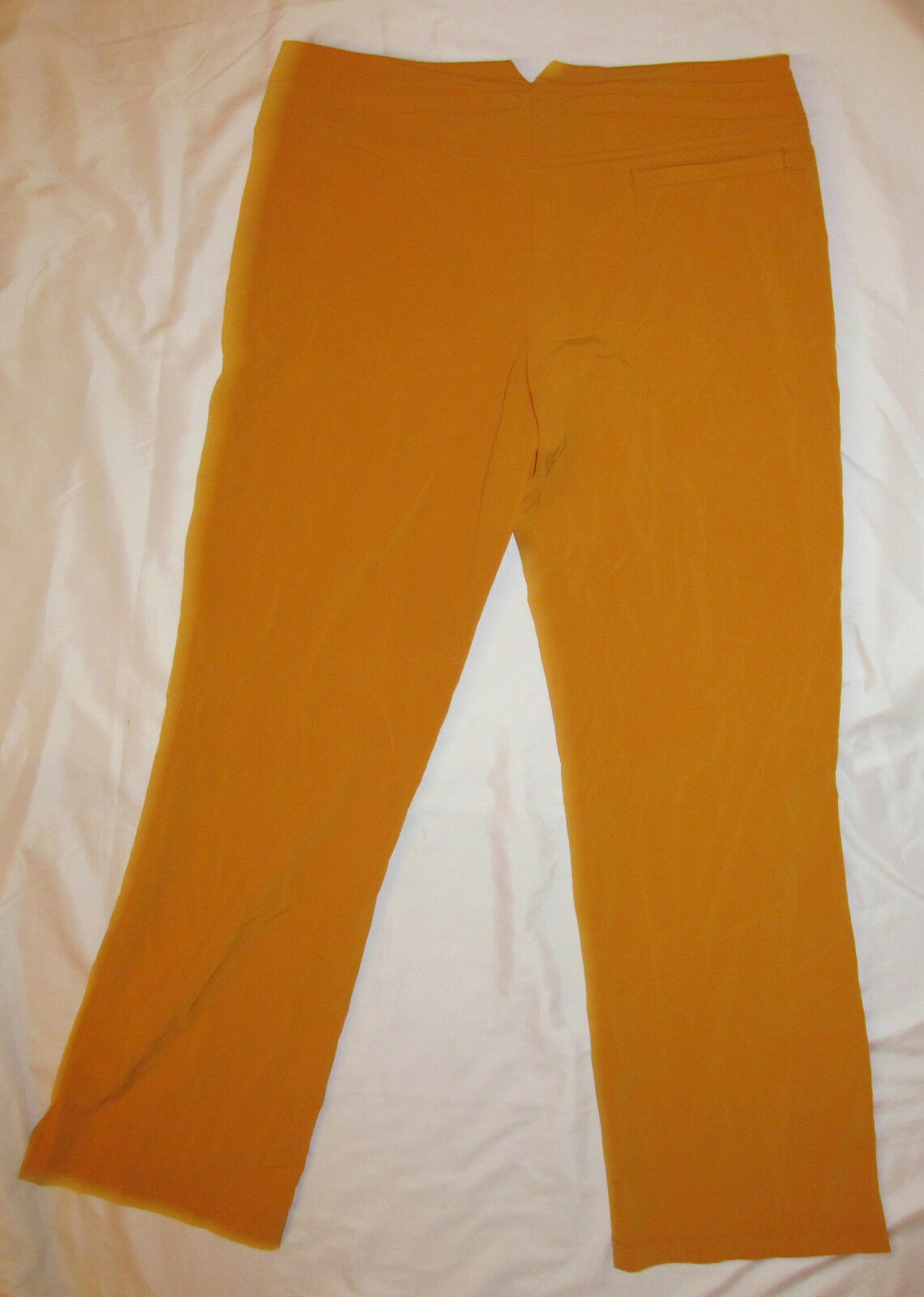 ATHLETA stretchy lightweight silk feel drawstring wide leg mustard yellow pants