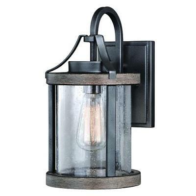 Distressed Wood Outdoor Wall Light Iron Rustic Industrial ... on Wood And Metal Wall Sconces id=64263