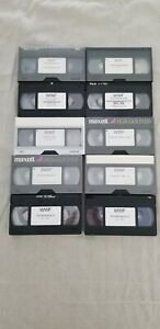 Lot of 10 WWF PPV VHS Tapes Sold As Blanks