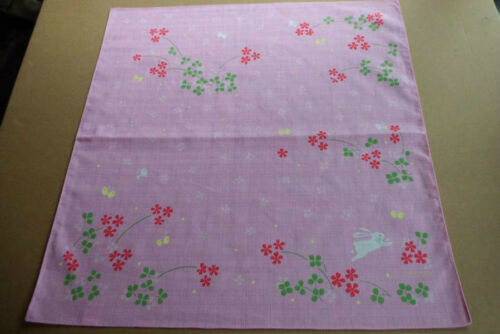 Beautiful fabric GIFT WRAPPING CLOTH. A Butterfly and a rabbit Furoshiki
