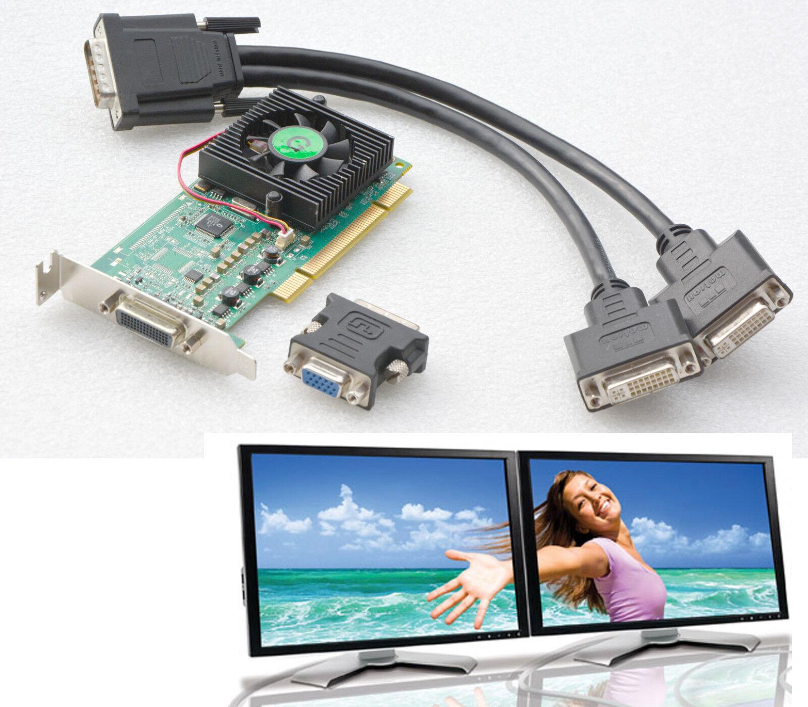PCI Low Profile Graphic Card Matrox MILLENNIUM P650 Dual Head P65-MDDAP64F G24