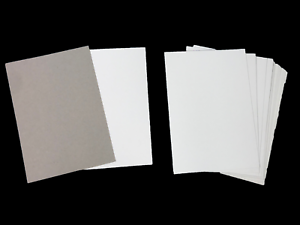 Plain white card A4 Grey on reverse 29.7cm x 21cm X 30 sheets - - 450 micron