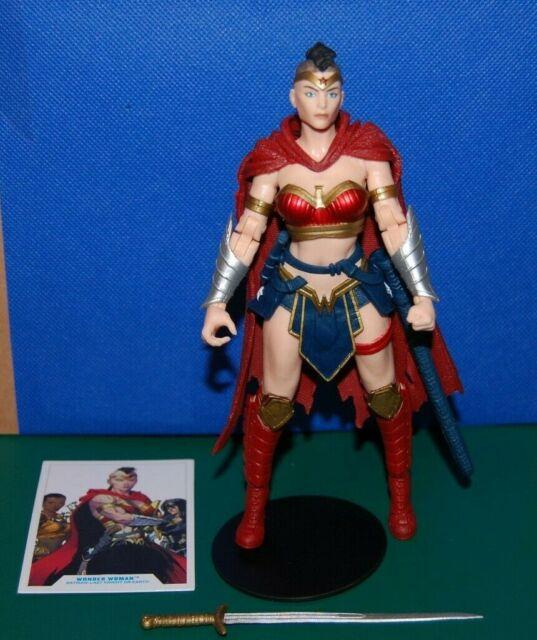 "DC Multiverse WONDER WOMAN Last Knight on Earth 7"" McFarlane NO Bane BAF/NO BOX"