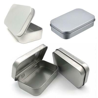 6 Pack 3.75 x 2.45 x 0.8 Inch Tins Container Rectangular Hinged Containers Sm...