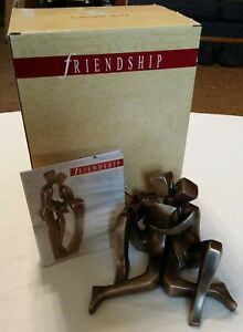 Art Deco Sculpture Modern Art Bronze Friendship First Kiss Statue Sculpture