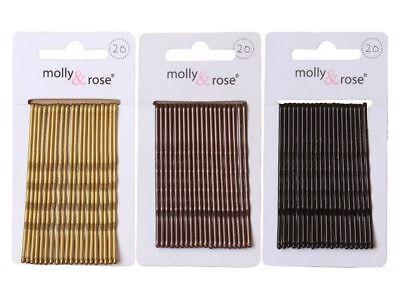 20pc standard 4.5cm kirby grips cheveux bobby pins clips blond noir marron
