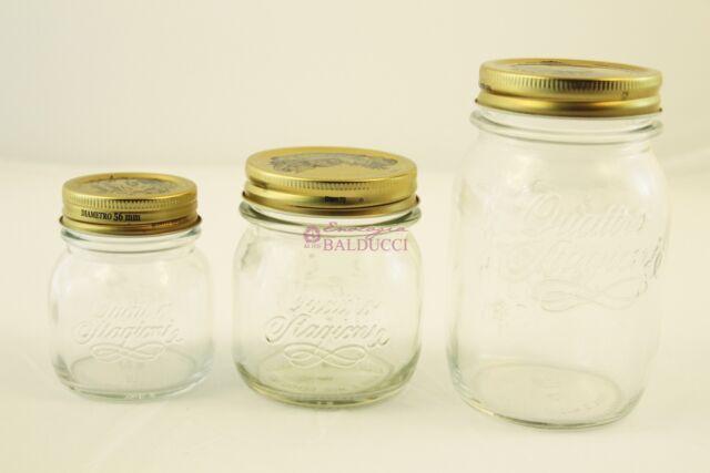 N°12 Vasetti Vaso Quattro Stagioni Bormioli in vetro 0.15L confetture-marmellate