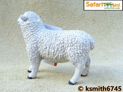 Safari WHITE SHEEP solid plastic toy farm pet animal figure NEW *